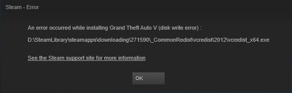 Steam an error occurred while updating not enough disk space
