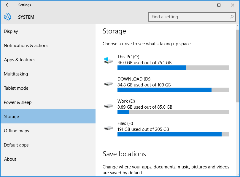 windows 10 update free up disk space