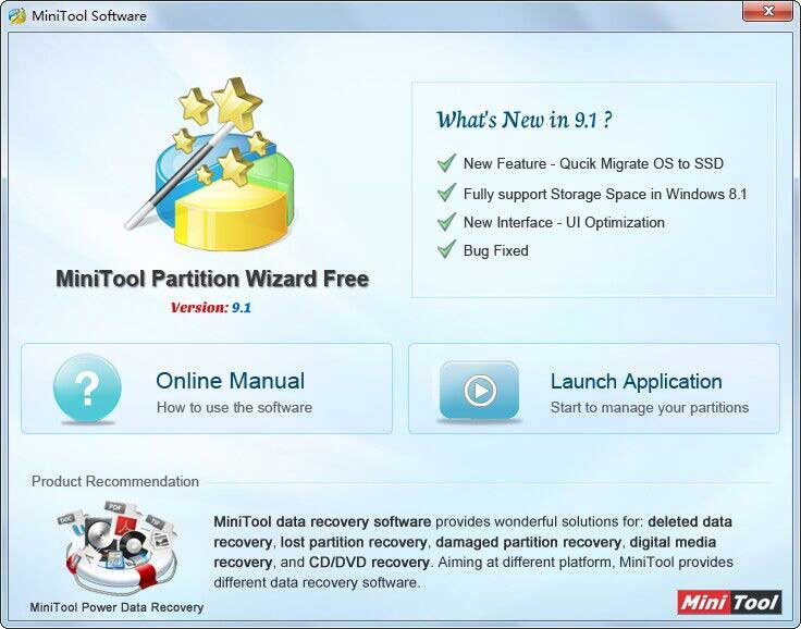 MiniTool Partition Wizard Free Edition 9