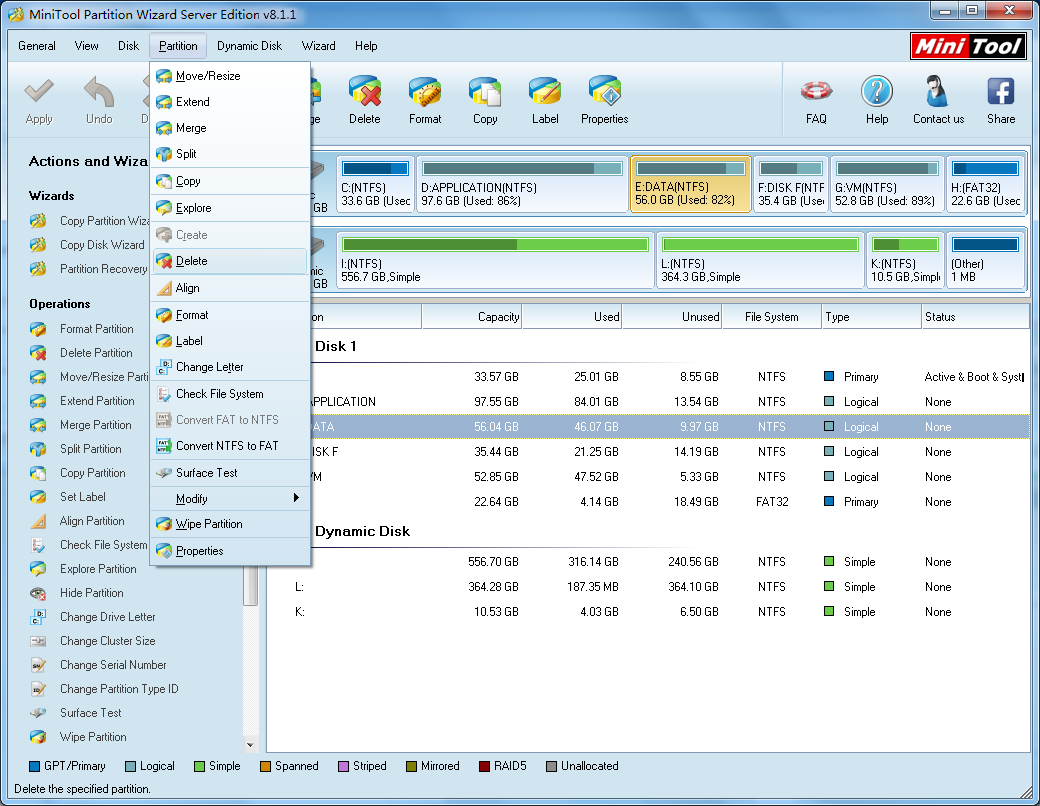 MiniTool Partition Wizard Professional