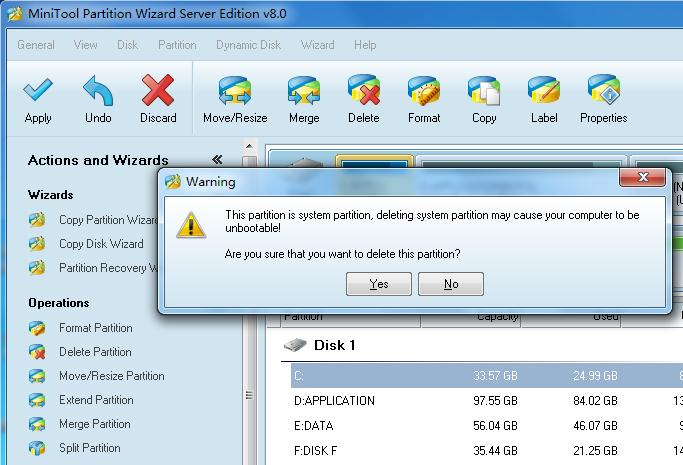 Partition Wizard - delete partition