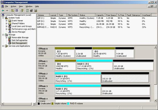 partition raid 5 expand raid 5 volume with dynamic disk