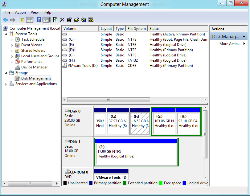 The Way to Merge Partitions with Windows 8.1 Disk Management