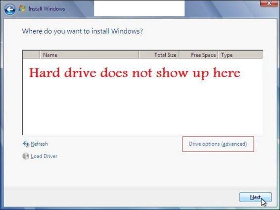 Image result for my laptop hard drive not detected
