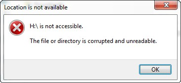 Quickly Fix Error - The File or Directory Is Corrupted and Unreadable