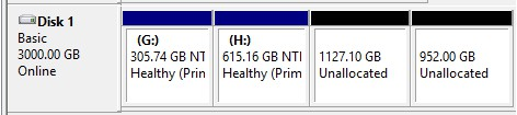 two unallocated mbr