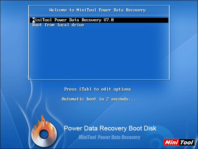 boot power data recovery