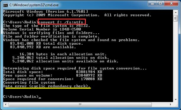 convert fat32 to ntfs cmd