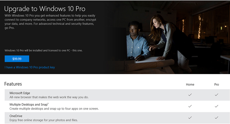 can you upgrade windows 10 home to pro without losing data