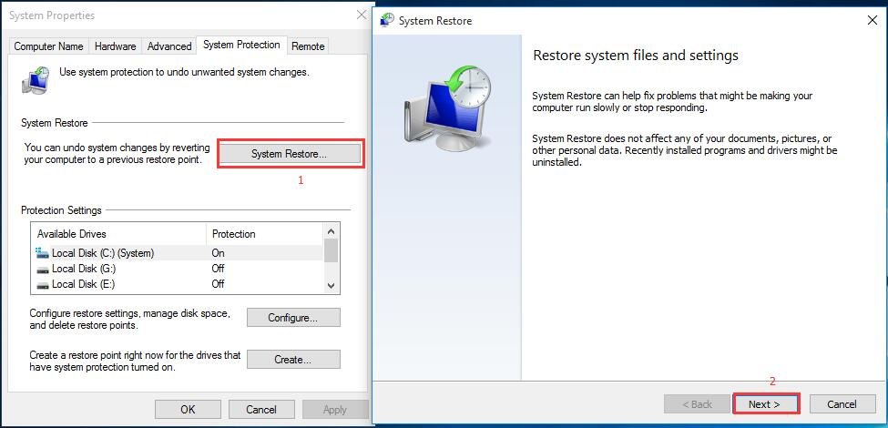 How to restore computer to previous date in Perth