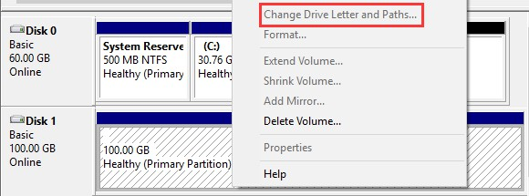 change letter and path inactive