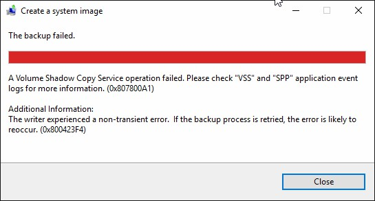 Quick Solved Volume Shadow Copy Service Errors (for Windows 10/8/7)