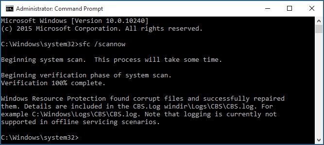 scan system files