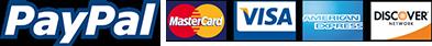 PayPal/MasterCard/VISA/AMEX/DISCOVER