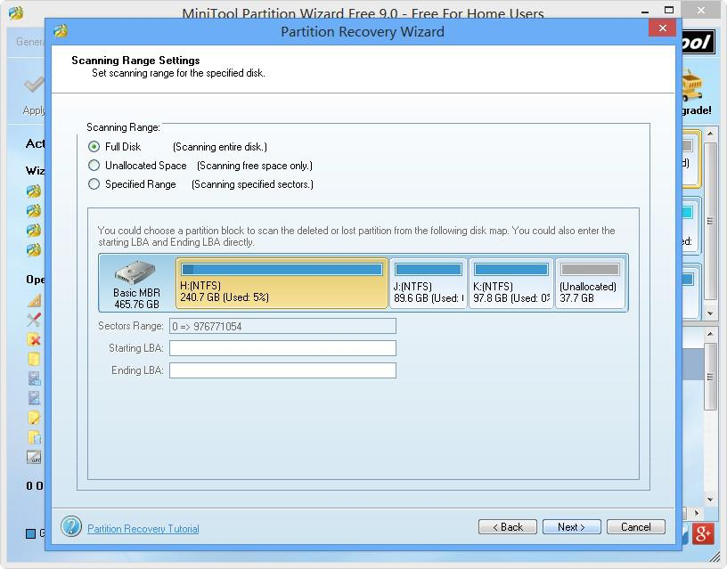 Partition Recovery Wizard 4
