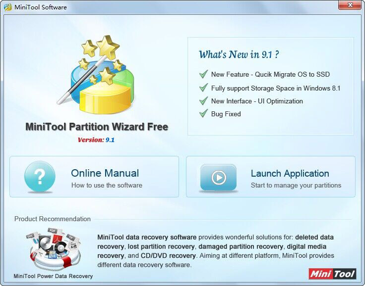 minitool partition wizard free 9.1 free for home users
