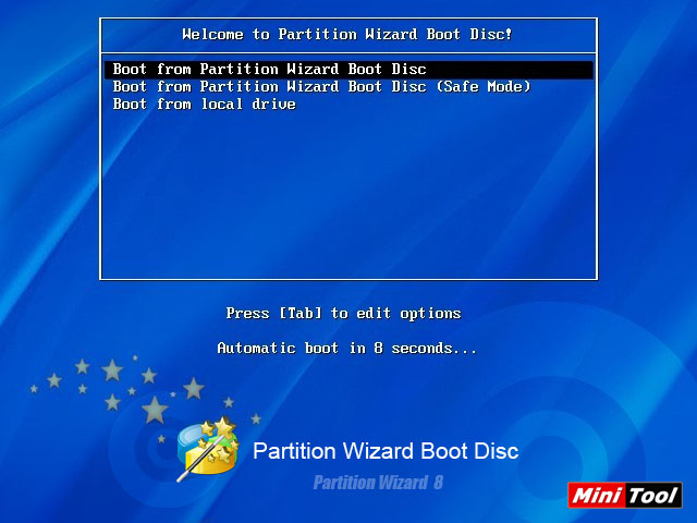 Restore boot partition with the partition manager MiniTool