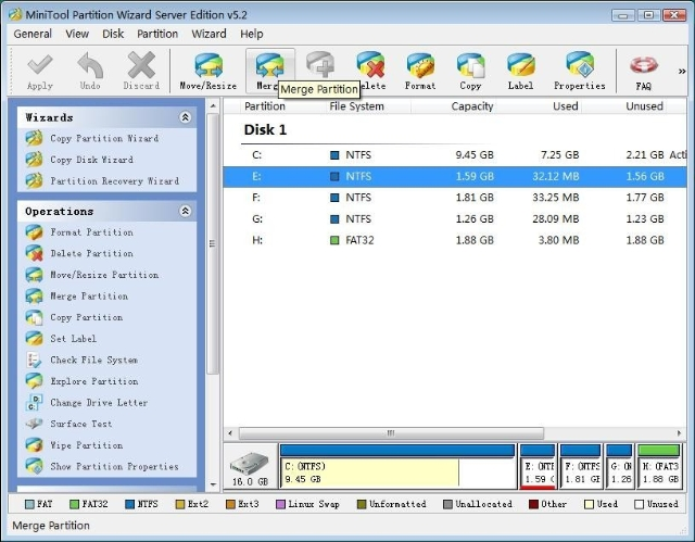 how to combine hard drive partitions windows xp