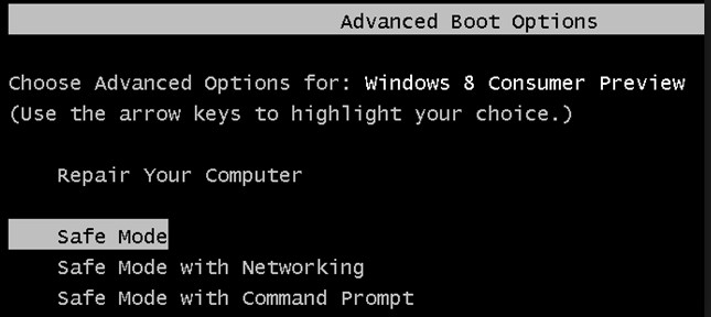 how to boot from safe mode