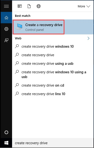 how to create a windows 7 usb recovery drive