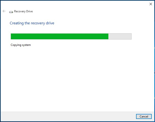 how to copy a drive recovery partition to a usb