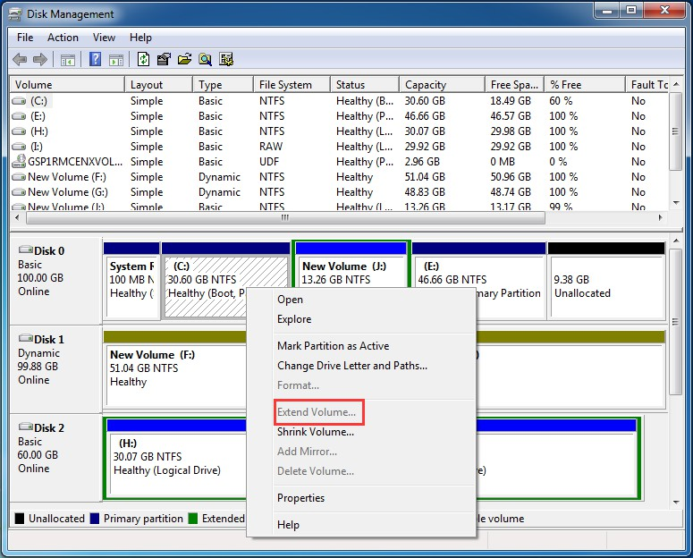 The Most Reliable Way to Extend Windows 7 System Partition