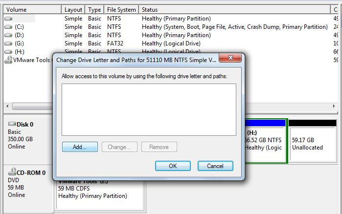 How to show hidden hard disk partition 7