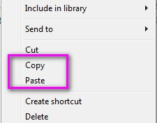 copy and paste file