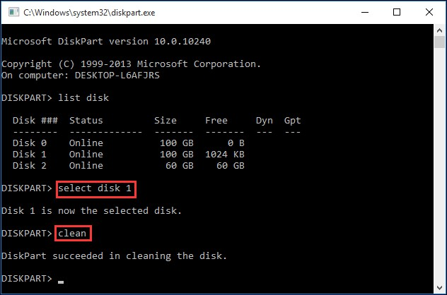 clean on wrong disk undo diskpart clean command now