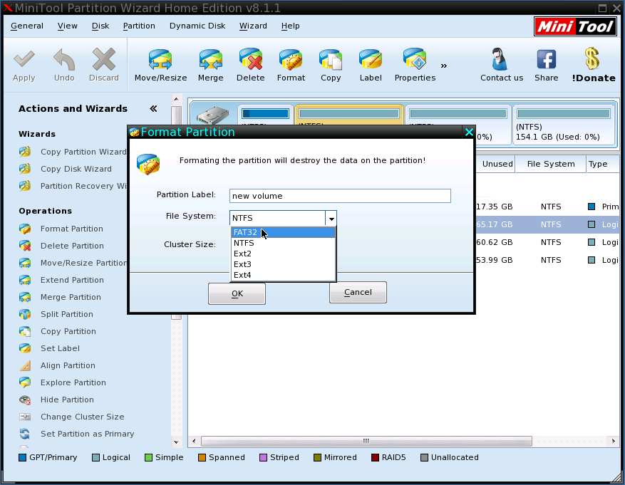 free bootable format tool format partition