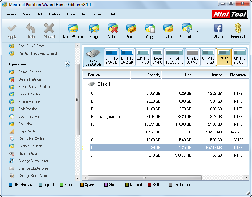free hard disk optimization software manage partition