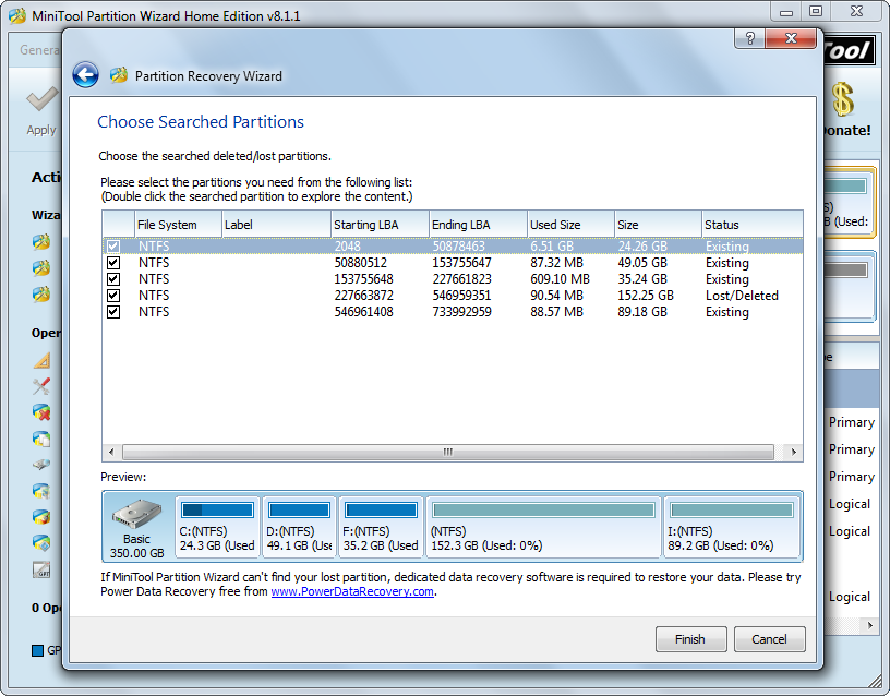 recover partition check all needed partitions