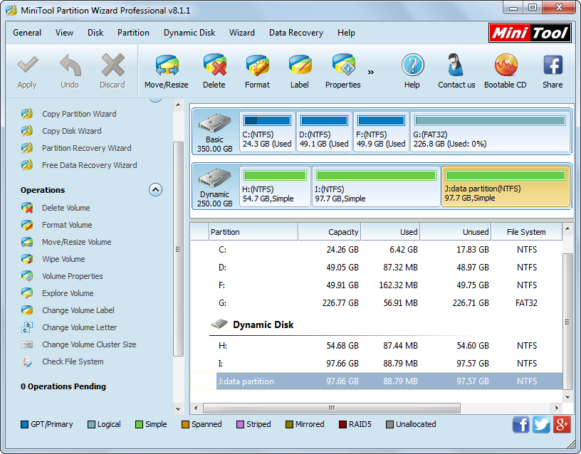minitool partition wizard volume management
