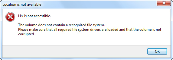 Can't Access A Partition Windows 7