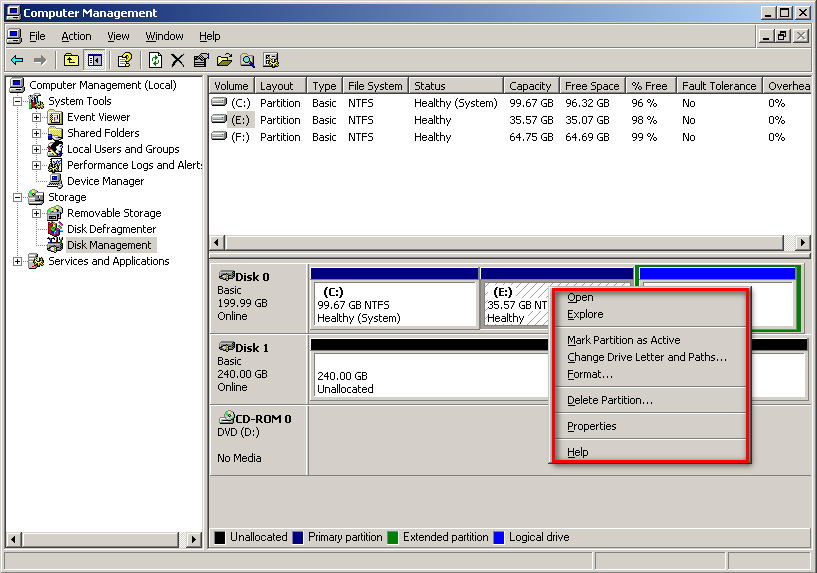 how to create anothe partition