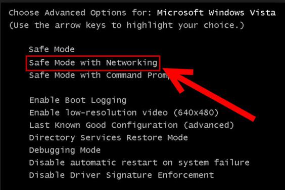 how to start windows 7 in safe mode without networking