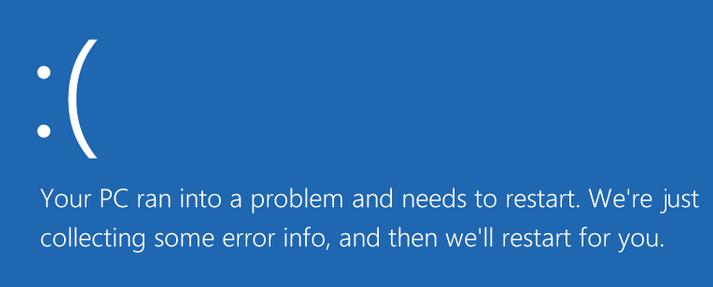 bsod error your pc run into a problem