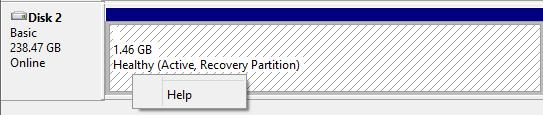 cannot delete recovery partition