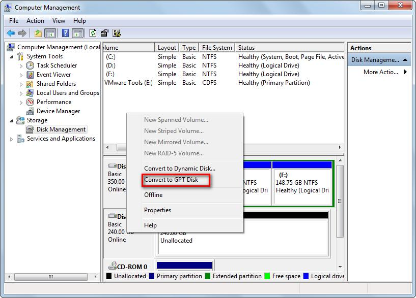 Ways to Convert Partition Type, Partition Style, and Disk Type