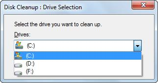 delete useless files in disk cleanup