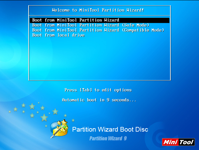 minitool partition wizard bootable cd welcome interface