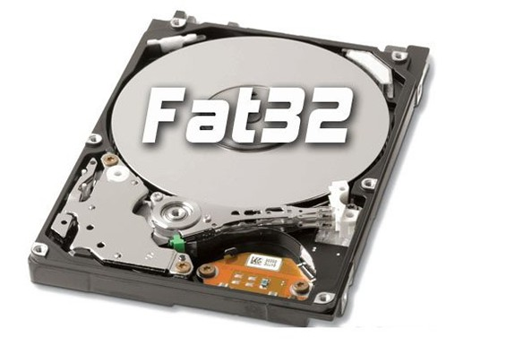 how to create fat32 partition on external hard drive