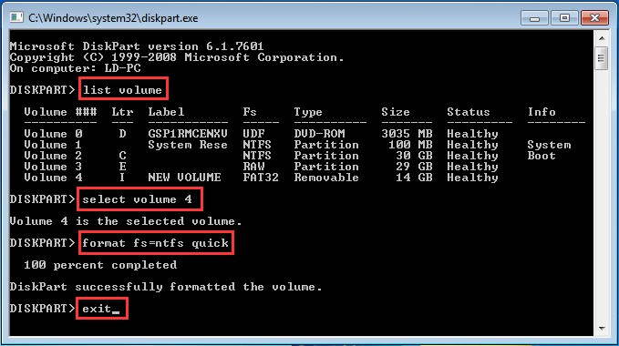 how to convert hard drive to got using diskpart