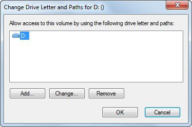add change and move drive letter in disk management