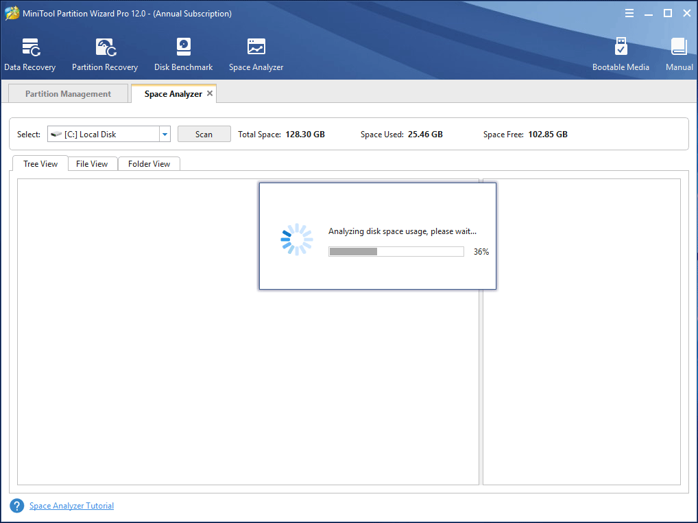 choose a partition to scan