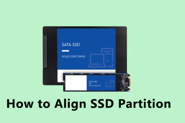align SSD partition