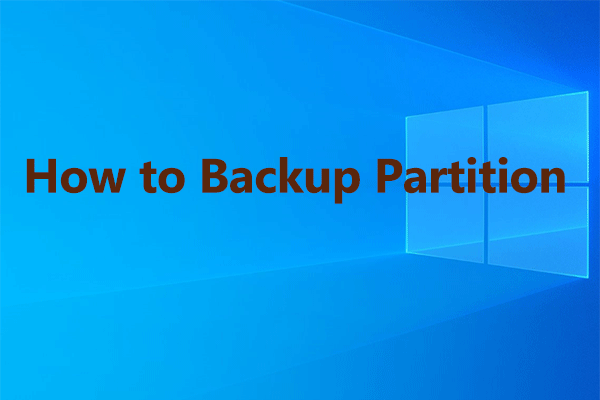 partition backup and copy thumbnail