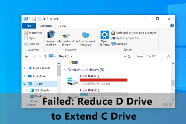 reduce D drive to extend C drive