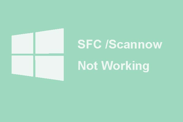 sfc scannow not working thumbnail