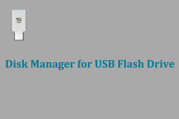 disk manager for USB flash drive